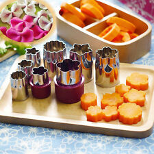 8Pcs Stainless Steel Flower Shape Cake Cookies Vegetable Fruit Cutter Mold Tool