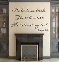 Psalm 23  Bible Verse Vinyl Wall Stickers Decals Scripture Quote Decor Home Art