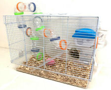 New listing 2-Levels Hamsters Habitat Rodent Gerbils Mouse Mice Rats Animal Acrylic Cage