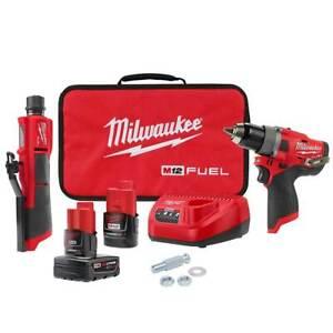 Milwaukee 2459-22 M12 FUEL 12V Brushless Li-Ion Commercial Tire Flat Repair Kit