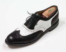 Allen Edmonds Black/White Wingtip Broadstreet Spectator Leather Dress Shoes 10 B
