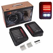 Clear LED Rear Tail Light Brake Turn Signal Reverse 07-Now Jeep Wrangler JK ALY