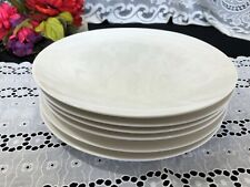 """Set of 6 L'art de la Table by """"Comme Chez Soi""""  White Dinner Plates 10 3/4"""""""