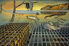 """Salvador dali.tadpole Orologio. stampare foto su moderne box-canvas 20 """"X 30"""""""