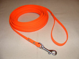 Biothane Pleather Tracking Line MANY LENGTHS 2 colors