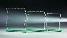12 Glas-Trophäen Wellenschliff 14x13cm #15 (Glaspokale Pokal Gravur Pokale)