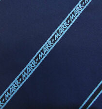 MARR kipper tie Vintage 1960s with corporate logo Navy blue Diagonal stripe Wide