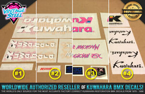 Kuwahara MAGICIAN EX BMX Decal Set (1987 All Colors) Official Licensed Product!