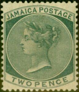 Jamaica 1886 2d Slate SG20a Fine Mtd Mint