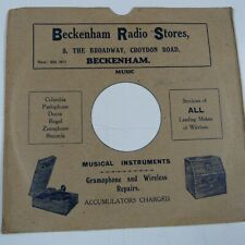 "10"" 78rpm gramophone record sleeve BECKENHAM RADIO STORES 5 the broadway"