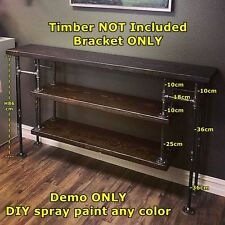 Rustic Industrial DIY Shop Display Iron Pipe Console Hall Table Legs Silver DT64