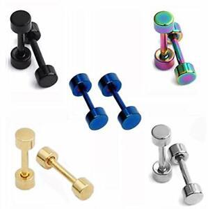 "Dot Earrings, High Polished Surgical Steel Screw Flat Back 3MM/0.12"" Studs"