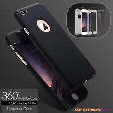 COVER CUSTODIA FRONTE RETRO ANTIURTO+PELLICOLA VETRO TEMPERATO 360° Per Iphone 7