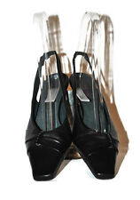 LADIES DESIGNER JONES THE BOOTMAKER BLACK LEATHER SLINGBACK SHOES SIZE36