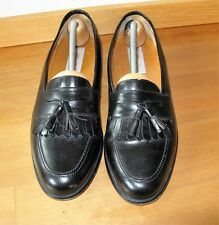 "MEZLAN ""Santander""~Made In Spain Black Leather Tassel Loafer Size 11 B"