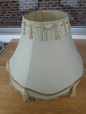 Large Cream Fabric Lampshade With Tassels