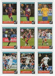 2015 Panini Donruss Soccer Complete set 100 cards Messi Ronaldo Neymar Iniesta