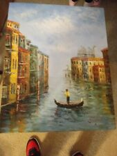 Original Painting Art on canvas Signed S. Hofner - Italy  16 × 20