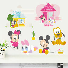 Disney Baby Mickey Minnie Mouse Removable Wall Stickers Nursery Decal Kids Decor
