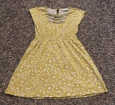 Girls Mini Boden Mustard Yellow Tank Top Dress Size 5 6
