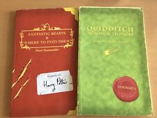 UK First Edition Harry Potter Textbooks: 'Fantastic Beasts' and 'Quidditch'