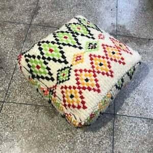 Free Shipping! Vintage moroccan azilal pouf, moroccan beni ouarain pouf, berber