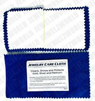 Jewelry Cleaning Polishing Cloth Shine & Protects Silver Gold Brass Dual Layer