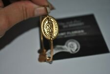 Alex and Ani RETIRED St. Florian HORIZONTAL Bracelet Gold NWT and meaning card