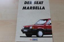 91615) Seat Marbella Prospekt 02/1992