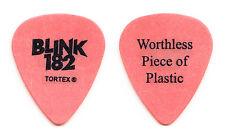 Blink-182 Tom DeLonge Worthless Piece Of Plastic Orange Guitar Pick - 2003 Tour