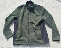 NEW Men's Green Heathered Black GERRY Full Zip Jacket Size 2XL XXL