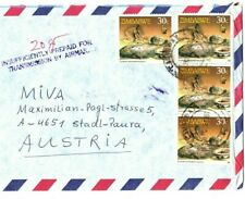 ZIMBABWE Cover MISSIONARY Underpaid Air Mail Austria 1992 {samwells}EB102