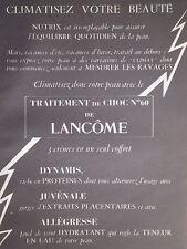 PUBLICITÉ DE PRESSE 1953 TRAITEMENT DE CHOC N°60 DE LANCOME - ADVERTISING