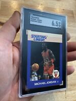 Michael Jordan Starting Lineup SGC 6.5 Kenner ROOKIE YEAR CARD 1988 RARE INVEST
