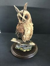 """More details for country artists """"long-eared owl"""" superbly detailed wild bird figurine"""