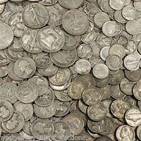 NICE LOT OF HALF A TROY POUND U.S. MIXED ✯SILVER COINS PRE-1965✯ 999 BARS BONUS!