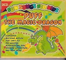 PUFF THE MAGIC DRAGON  - FUN SONGS FOR KIDS on 2 CD's -- NEW -