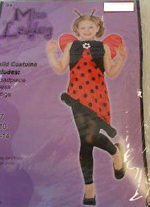 Miss Ladybug Child Costume Dress 5-7 8-10 NWT
