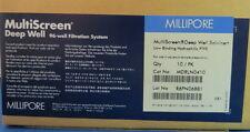Millipore MultiScreen Solvinert Deep Well Filter Plates #MDRLN0410 Pk/10