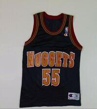 VTG 90s Champion Size 36 Dikembe Mutombo Jersey Denver Nuggets Blue Basketball