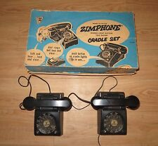 Vintage Model 96 Deluxe ZimPhone Signal-light two phone cradle set w/ box