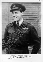 SPBB07 WWII WW2 RAF Battle of Britain pilot BROTHERS DSO DFC hand signed photo