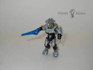 Halo Mega Construx Set #DPJ93 Covenant Silver Elite Commander with Energy Sword
