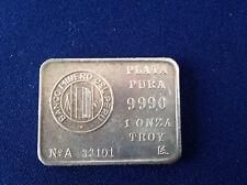 1984 Plata Pura Banco Minero Del Peru PERU-1 Silver Art Bar P1758