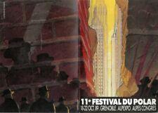 SCHUITEN PROGRAMME 11e FESTIVAL DU POLAR 18-22 OCT 89 GRENOBLE DOUBLE COUVERTURE