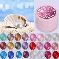 5ml Soak Off Nail UV Gel Polish Pearl Color Coat LED Nail Art Varnish 24 Colors