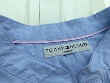 Tommy Hilfiger Baby Blue Blouse 100% Cotton Size UK 20 - Lovely On
