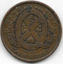 CANADA 1837 BANQUE DU PEUPLE  HALF PENNY TOKEN - VF CONDITON - BV$19.00