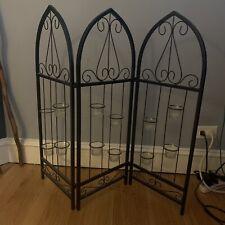 Wrought Iron Metal Fold Folding Screen Fireplace Home Decor Candle Holder 30x36