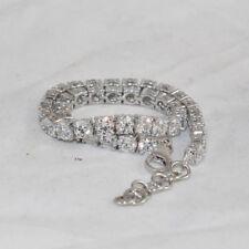 """15 Ct 1 Row Diamond Tennis Bracelet 7.50"""" Round 14K White Gold Finish"""